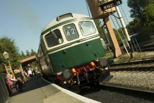 D6501 stood in Buckfastleigh Platform. Photo by Alan Johnson.