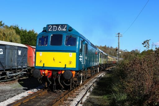 D7535 double heading with D7612 at Staverton in 2018. Photo by Rob Sherwood
