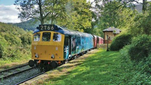D7535 on the Llangollen Railway. Photo by Richard Bruford.