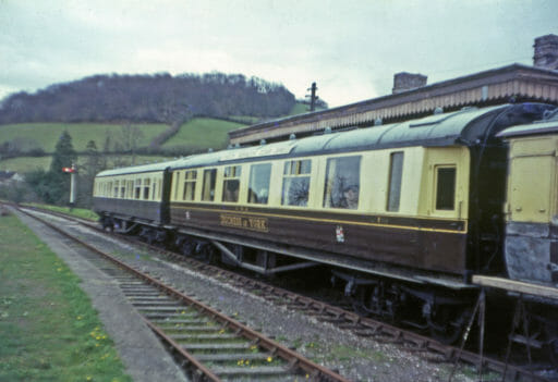Duchess of York at Buckfastleigh Station in the early days of the Dart Valley Railway. - Richard Hoskin
