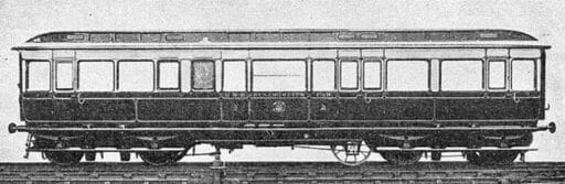 The GWR Dynamometer Car, it was attached between the locomotive and the train, and was used for making tests under working conditions. In the car a moving roll of paper, on which the principal records were made, was operated by clockwork and the extra wheel shown. That could be raised or lowered from the underside of the carriage to the rail as required, and was used to record on the roll the speed at which the train was travelling. The wheel was fitted with a hardened steel tyre, ground to such a diameter that it made exactly 440 revolutions for each mile run.