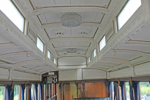 GWR coach 249 - A closer look at the detail of the ceiling.