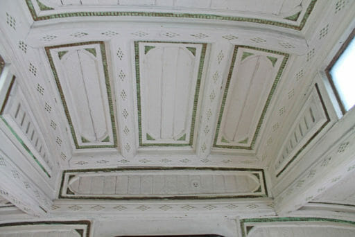GWR coach 249 - Another closer look at the detail of the ceiling.