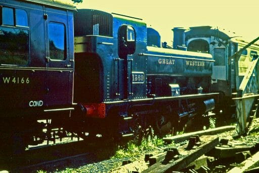 An archive picture of 1369 at Buckfastleigh - Simon Hicks
