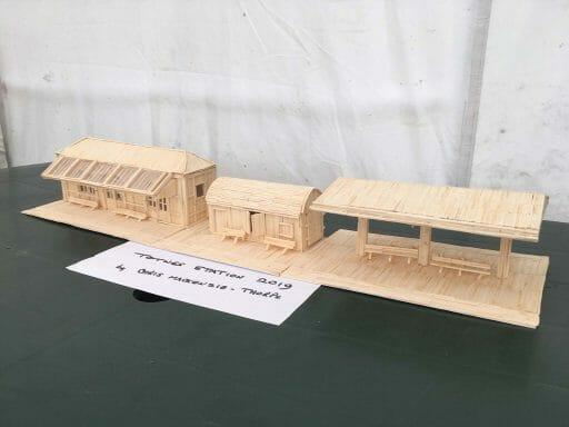 Chris MacKenzie-Thorpe's matchstick model of Totnes Riverside Station